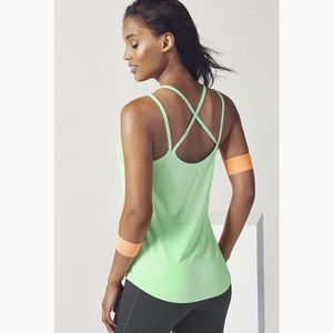 New FABLETICS cross back athletic workout tank top